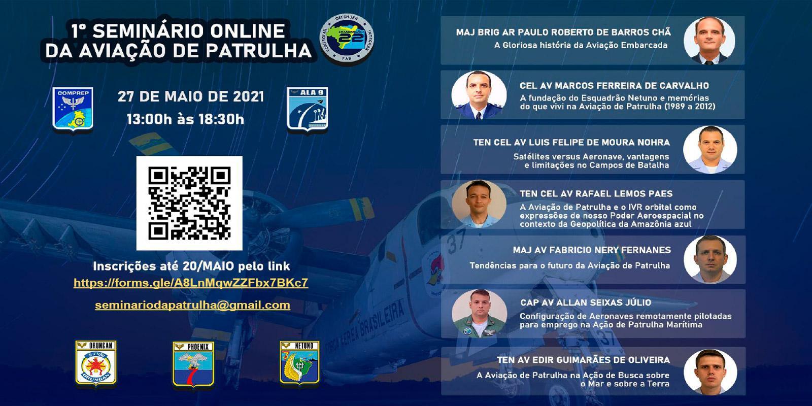 1º Seminário Online da Aviação de Patrulha