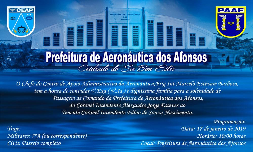 ASSOCIADO PASSA COMANDO DA PREFEITURA DE AERONÁUTICA DOS AFONSOS
